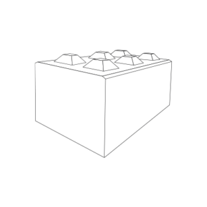 Dreiviertelformat-Block